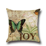 1 Pcs Butterfly Pattern Cotton Linen Throw Pillow Cushion Cover Seat Car Home Sofa Bed Decorative Pillowcase funda cojin 40204