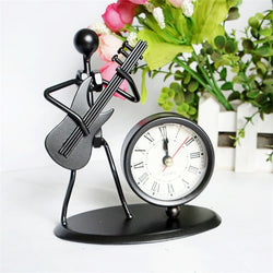 10 Musical Instrument Crafts Vintage Metal Man Model Clock Table Desk Decorative Toy Christmas Gift for Kids Home Decor