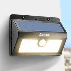 ARILUX® AL-SL05 Wireless Solar 20 LED Waterproof PIR Motion Sensor Outdoor Warm White Wall Light