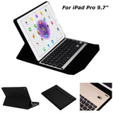 3 In 1 Aluminium Bluetooth Wireless Keyboard PU Leather Case Cover With Stand Holder For iPad Pro 9.7 Inch