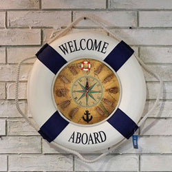 2016 Mediterranean large wall clocks Circular Cloth original wall clocks life buoy wall clock  living room Home decoration