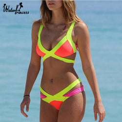 2016 Sexy Bandage Bra Padded triangle bikini Set Women Push Up Swimwear bikinis Swimsuit Brand New Bathing Suit Beachwear S/M/L