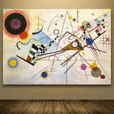 2017 Christmas gift Abstract Wall Art Pictures For Living Room Home Decor Canvas Handmade Oil Painting Wassily Kandinsky