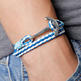 2017 New Fashion Friendship Hook Leather Bracelets For Men Trendy Boys Knight Courage Bandage Charm Anchor Bracelets.