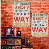 20x30cm Sheet Metal Drawing Sign Metal Painting Home  Pub Cafe Wall Decor Happniess