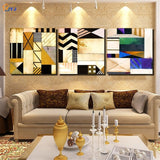 3 Panels Canvas Painting Art 100% Handmade Modern Abstract Oil Painting on Canvas Wall Art Gift for Home Decor No Frame  FC018