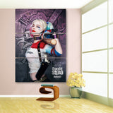 3 Pieces Clown Harley Quinn Wall Art Picture Modern Home Decoration Living Room Or Bedroom Canvas Print Painting Wall Picture