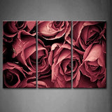 3 pieces framed Wall Art Picture Gift Home Decoration Canvas Print painting Elegant red roses wholesale/10Y-47