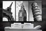 3 pieces framed Wall Art Picture Gift Home Decoration Canvas Print painting European castle series wholesale/12Y-139