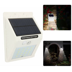 Outdoor 16LED Motion Sensor Solar Light Wall Lamp for Garden Balcony