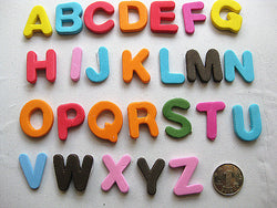 40pcs 26 letter stickers glittering decoration eva alphabets sheet for kids diy material