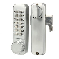 Smart Keypad Door Lock Password Lock Mechanical Key Locks for 45mm-55mm Thickness Door Silver