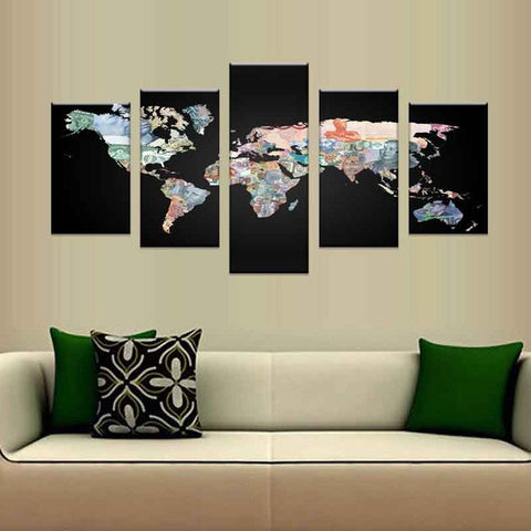 5 piecesset hot the world map poster pictures for living room hd 5 piecesset hot the world map poster pictures for living room hd print on gumiabroncs Gallery