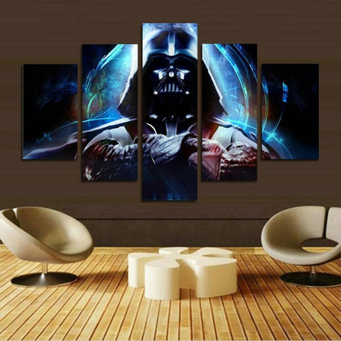 5 panel Star Wars canvas painting wall art poster Print room decor custom and dropshipping is & 5 panel Star Wars canvas painting wall art poster Print room decor ...