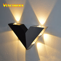 6W Modern Led Wall Lamp Luminaire Bathroom Light Fixture Wall Sconce Triangle Wall Light For Bedroom Home Lighting Decoration