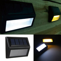 6 LED SMD Solar Panel Sensor Light Lamp IP65 Fence Wall Garden Outdoor