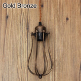 2M Vintage Pendant Trouble Light Bulb Guard Wire Cage Ceiling Hanging Lampshade