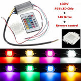 100W RGB Chip Light Bulb Waterproof LED Driver Power Supply with Remote Controller acs