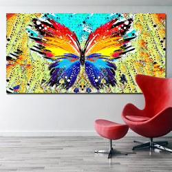 Abstract Splatter utterflies Fluttering Creative Abstract Canvas Painting on Canvas Poster Wall Pop Art for Living Room