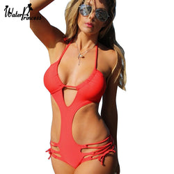 Bandage Swimsuit Swimwear Women 2017 Bathing Suit Monokini Trikini One Piece Swimsuit Swimming Suit Maillot De Bain Une Piece