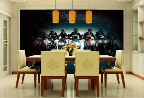 ... Bar Creative Motorcycle Large Mural Wallpaper Living Room Bedroom  Wallpaper Painting TV Backdrop 3D Wallpaper For ...