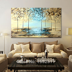 Canvas painting Modern Abstract landscape painting wall art Wall Pictures for Living room home decor quadros Cuadros decoracion1