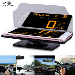 Car HUD Heads Up Display Cars Holder Stander Universal for IPhone GPS Navigation Mobile Cell Phone Image Reflector Projector