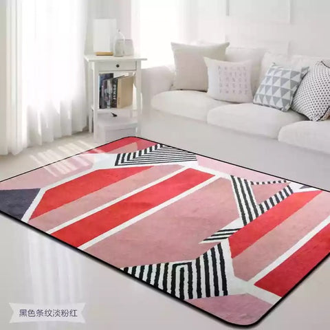 Colorful Spliced Carpets for Parlor Soft Flannel Living Room Area ...