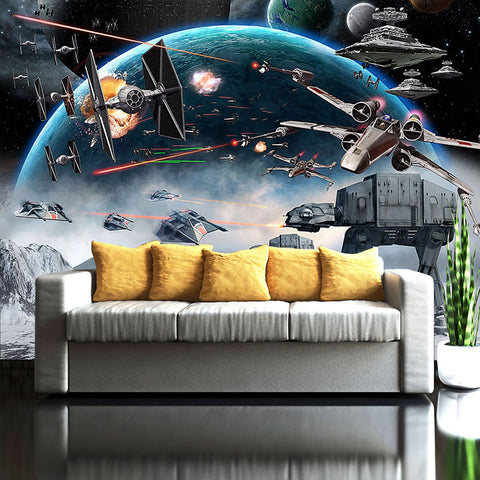 Custom 3D Photo Wallpaper Cartoon Star Wars Children Room Bedroom