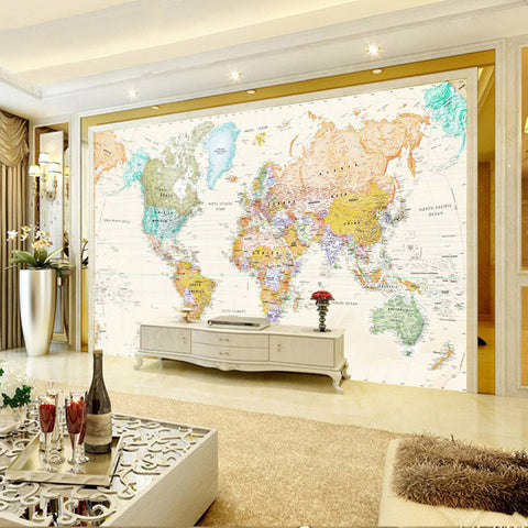 Custom any size mural wallpaper 3d stereo world map fresco living custom any size mural wallpaper 3d stereo world map fresco living room office study interior decor gumiabroncs Gallery