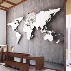 Custom vintage stereoscopic world map large mural 3D wallpaper for wall 3d wallpaper European-style living room sofa backdrop