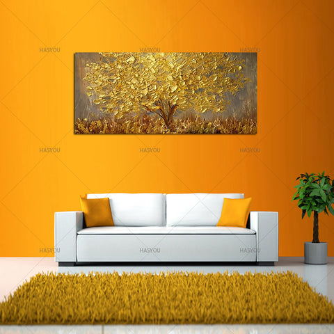 Handmade Modern Abstract Landscape Oil Paintings On Canvas Wall Art ...