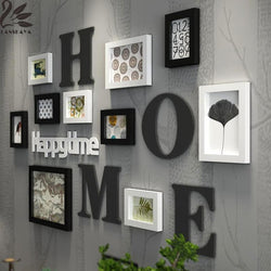 New Arrival Moldura Modern Solid Wood Photo Frames For Picture Wall Combination Diy Frame 3d Mult