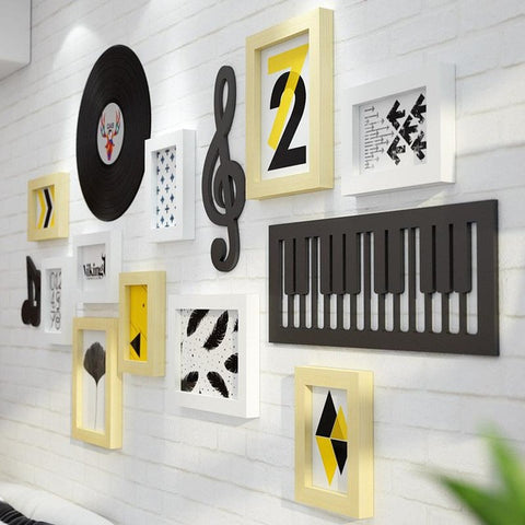 Unik Music Notation Solid Wood Photo Frame Wall New Classical Multi ...