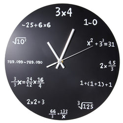 Large Creative Wall Clock Mathematics Blackboard Pop Quiz Clock Modern Design Big Wall Watches For Living Room Wall Home Decor