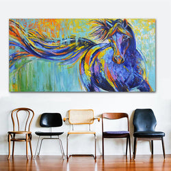 Modern Print Modern wall art Horse oil painting Prints Painting on canvas No frame Animal Painting Wall Decor For Living Room