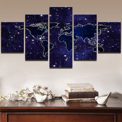 Modular painting wall art pictures modern canvas poster frame 5 modular painting wall art pictures modern canvas poster frame 5 panel world map landscape home room gumiabroncs Gallery
