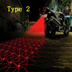 Auto Taillight Anti-collision Laser Fog Lamp Motorcycle Brake Light