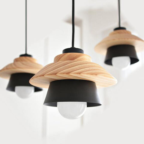 New nordic pendant lights for home lighting modern hanging lamp new nordic pendant lights for home lighting modern hanging lamp wooden aluminum lampshade e27 led bedroom mozeypictures Images