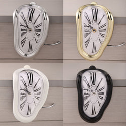 Novelty Wall Clock Wall Watch 3 Colors Irregular Melting Wall Clock Home Decoration Modern Design Reloj Pared