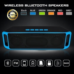 Portable Wireless Speaker Bluetooth 4.0 Stereo Subwoofer Boombox Speakers Built-in Mic Dual Bass Sound Box Support TF /USB/ FM