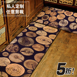 Rural Style HUAMAO Antique Wood Tree Door mats Slip-resistant Kitchen Floor Mat Living Room Rug And Carpets For Decoration