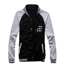 Mens Baseball Uniform Number Printing Leisure Baseball Jacket Coat