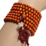 216Pcs 6mm Multilayer Sandalwood Buddha Prayer Beads Bracelet Necklace
