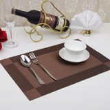 Set of 4 PVC Placemat for Table Mat Pad Drink Wine Coasters Bamboo Placemats Dining Table Place Mat Kitchen & Table Linens