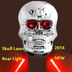 Skull Head Shaped Cycling Bike Bicycle Light 2-Mode 2 Laser Beam and  6-Mode 2 LED Rear Tail Light Lamp Safety