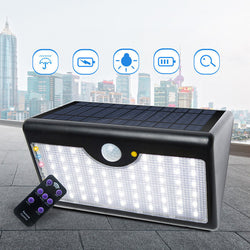 Solar Lamp Remote Street Light Waterproof IP65 5 Modes Courtyard Sense Wall Lights 60 LED Landscape Walkway Outdoor Lighting