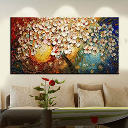 Unframed Handpainted On Canvas Wall Art Abstract Paintings Modern Acrylic Flowers Palette Knife Oil Painting for Home Decorati