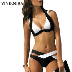 VINIKNIKA 2017 new split color female swimsuit cross sexy bikini ladies swimwear Top Beach wear Bathing Suits maillot de bain