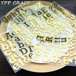 YPP CRAFT Golden Capital Letters Die Cut Self-adhesive Stickers for Scrapbooking Happy Planner/Card Making/Journaling Project
